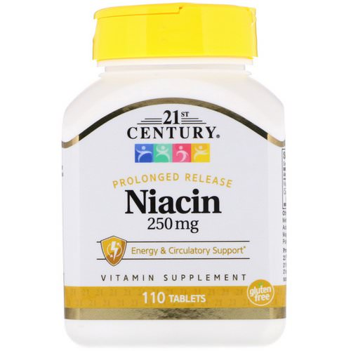 21st Century, Niacin, Prolonged Release, 250 mg, 110 Tablets Review