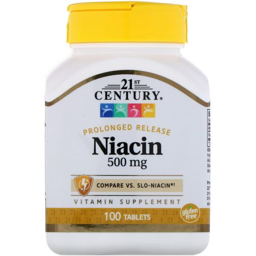 21st Century, Niacin, Prolonged Release, 500 mg, 100 Tablets Review