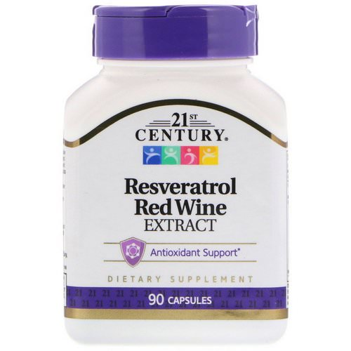 21st Century, Resveratrol Red Wine Extract, 90 Capsules Review