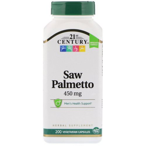 21st Century, Saw Palmetto, 450 mg, 200 Vegetarian Capsules Review
