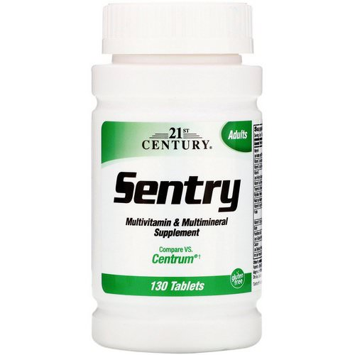 21st Century, Sentry, Multivitamin & Multimineral Supplement, 130 Tablets Review