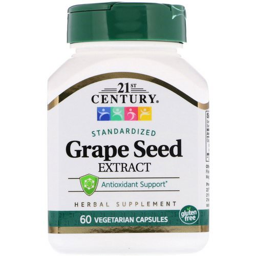 21st Century, Standardized Grape Seed Extract, 60 Vegetarian Capsules Review
