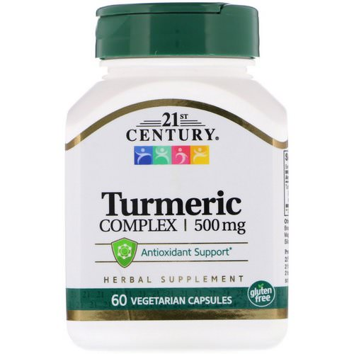 21st Century, Turmeric Complex, 500 mg, 60 Vegetarian Capsules Review