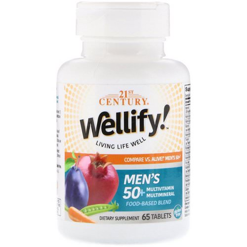 21st Century, Wellify, Men's 50+, Multivitamin Multimineral, 65 Tablets Review