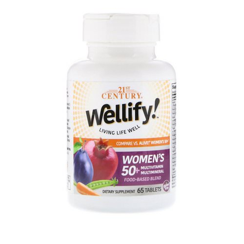 21st Century, Wellify Women's 50+ Multivitamin Multimineral, 65 Tablets Review