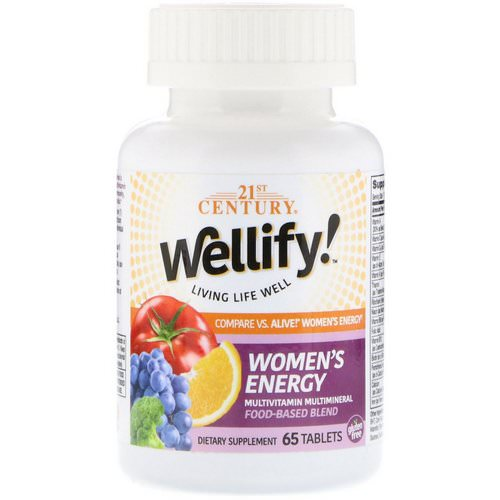 21st Century, Wellify! Women's Energy, Multivitamin Multimineral, 65 Tablets Review