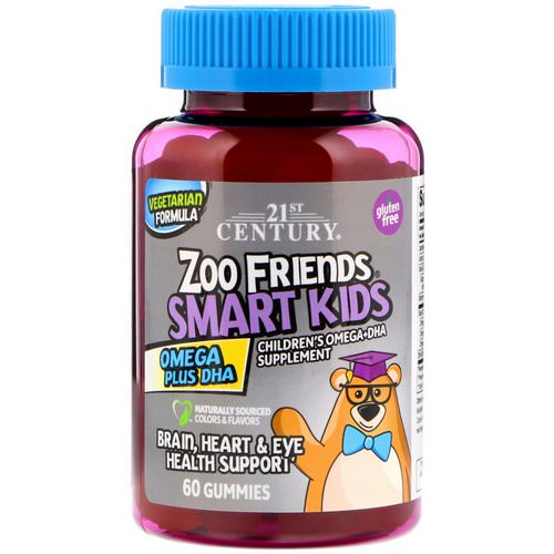 21st Century, Zoo Friends Smart Kids Omega Plus DHA, 60 Gummies Review