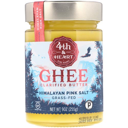 4th & Heart, Ghee Clarified Butter, Grass-Fed, Himalayan Pink Salt, 9 oz (225 g) Review