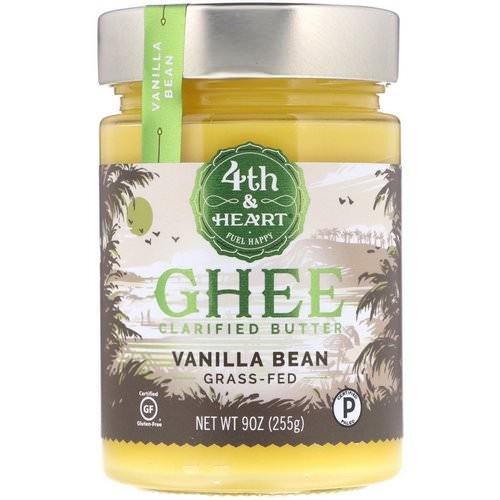 4th & Heart, Ghee Clarified Butter, Grass-Fed, Vanilla Bean, 9 oz (225 g) Review