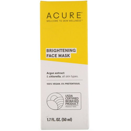 Acure, Brightening Face Mask, 1.7 fl oz (50 ml) Review