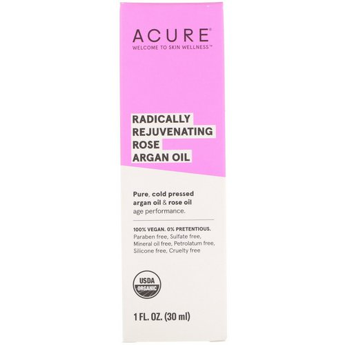 Acure, Radically Rejuvenating Rose Argan Oil, 1 fl oz (30 ml) Review