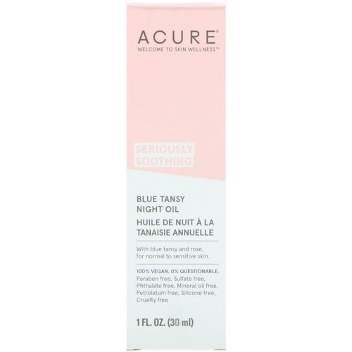 Acure, Seriously Soothing, Blue Tansy Night Oil, 1 fl oz (30 ml) Review