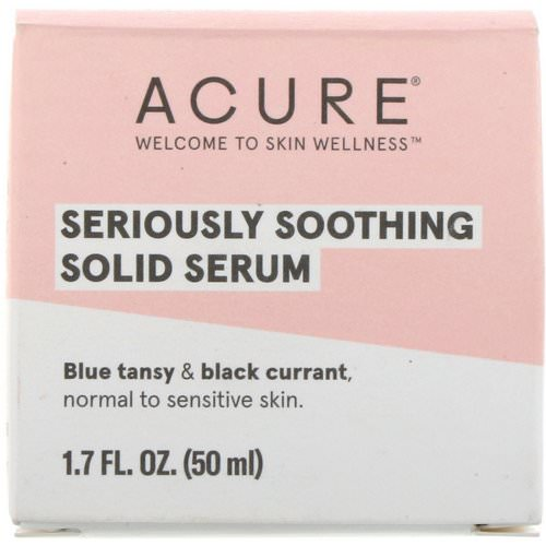 Acure, Seriously Soothing Solid Serum, 1.7 fl oz (50 ml) Review