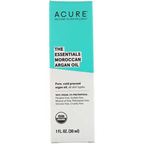 Acure, The Essentials Moroccan Argan Oil, 1 fl oz (30 ml) Review