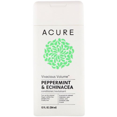 Acure, Vivacious Volume Conditioner, Peppermint & Echinacea, 12 fl oz (354 ml) Review