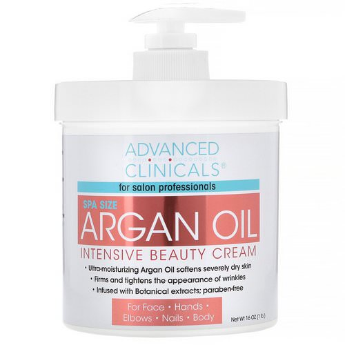 Advanced Clinicals, Argan Oil, Intensive Beauty Cream, 16 oz (454 g) Review