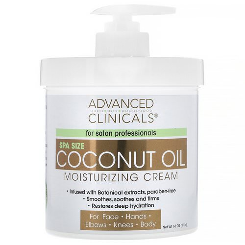 Advanced Clinicals, Coconut Oil Moisturizing Cream, 16 oz (454 g) Review