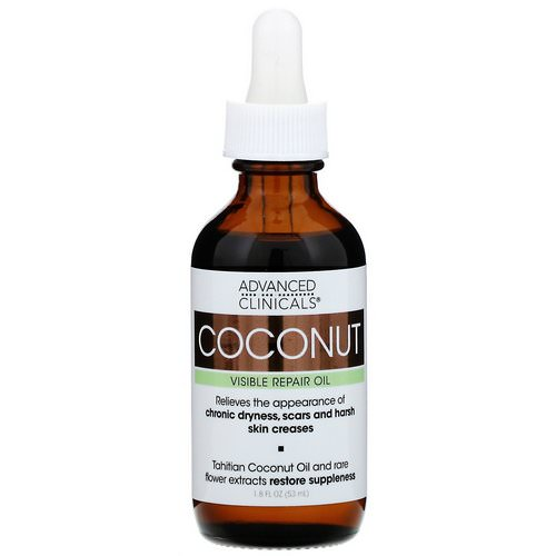 Advanced Clinicals, Coconut, Visible Repair Oil, 1.8 fl oz (53 ml) Review