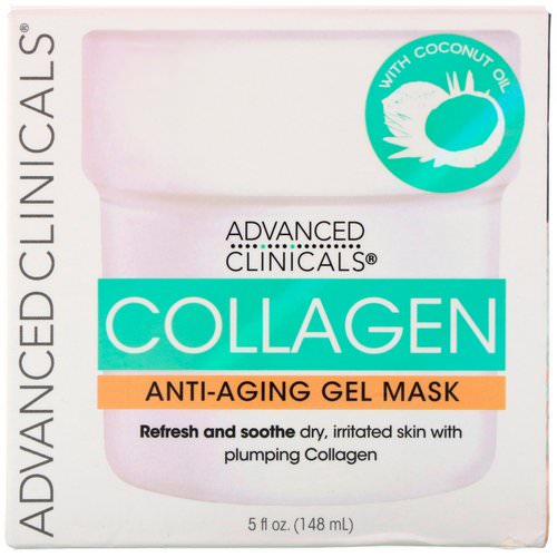 Advanced Clinicals, Collagen, Anti-Aging Gel Mask, 5 fl oz (148 ml) Review
