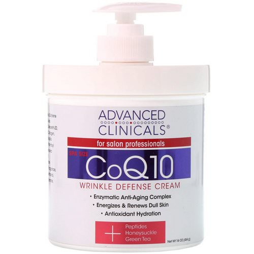 Advanced Clinicals, CoQ10, Wrinkle Defense Cream, 16 oz (454 g) Review