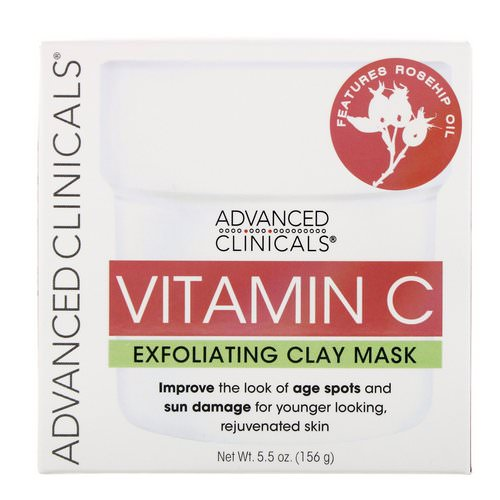 Advanced Clinicals, Vitamin C, Exfoliating Clay Mask, 5.5 oz (156 g) Review