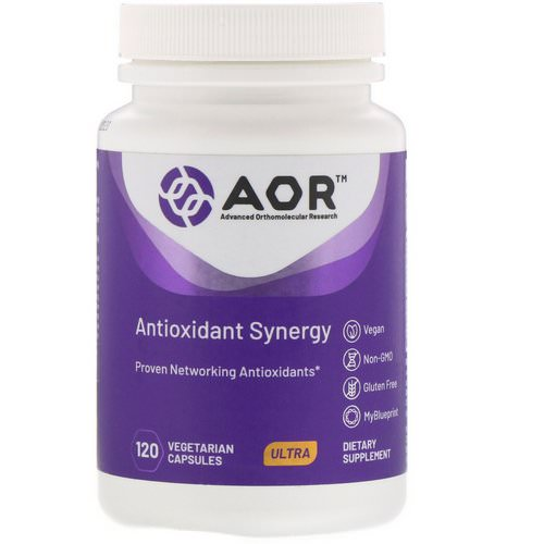 Advanced Orthomolecular Research AOR, Antioxidant Synergy, 120 Vegetarian Capsules Review