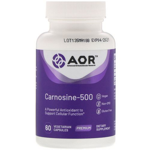 Advanced Orthomolecular Research AOR, Carnosine-500, 60 Vegetarian Capsules Review