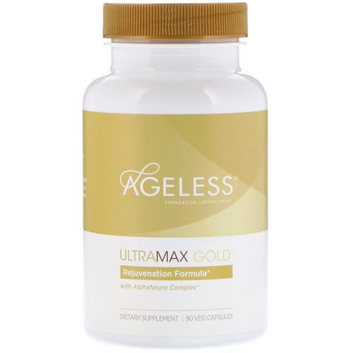 Ageless Foundation Laboratories, UltraMax Gold with AlphaNeuro Complex, 90 Veg Capsules Review