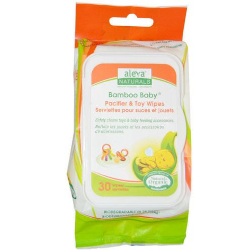 Aleva Naturals, Bamboo Baby Wipes, Pacifier & Toy, 30 Wipes Review