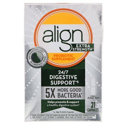 Align Probiotics, 24/7 Digestive Support, Probiotic Supplement, Extra Strength, 21 Capsules Review
