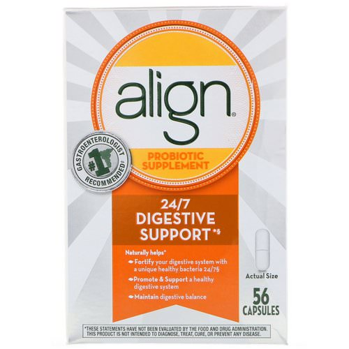 Align Probiotics, 24/7 Digestive Support, Probiotic Supplement, 56 Capsules Review
