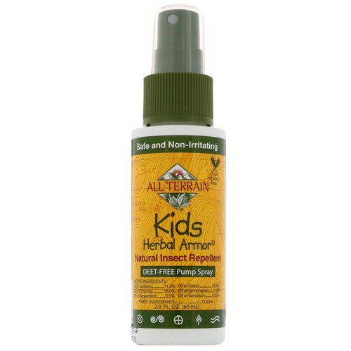 All Terrain, Kids Herbal Armor, Natural Insect Repellent, 2.0 fl oz (60 ml) Review