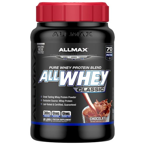 ALLMAX Nutrition, AllWhey Classic, 100% Whey Protein, Chocolate, 2 lbs (907 g) Review