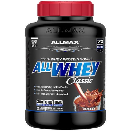 ALLMAX Nutrition, AllWhey Classic, 100% Whey Protein, Chocolate, 5 lbs (2.27 kg) Review