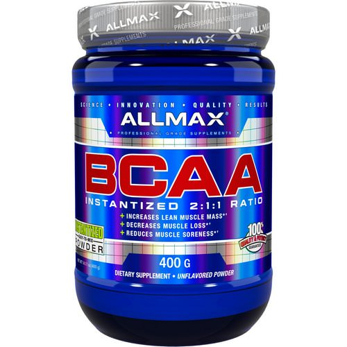 ALLMAX Nutrition, BCAA Instantized 2:1:1 Ratio, Unflavored Powder, 400 g Review