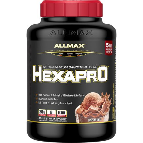 ALLMAX Nutrition, Hexapro, Ultra-Premium 6-Protein Blend, Chocolate, 5 lbs (2.27 kg) Review