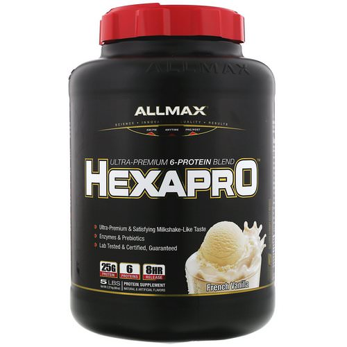 ALLMAX Nutrition, Hexapro, Ultra-Premium 6-Protein Blend, French Vanilla, 5 lbs (2.27 kg) Review