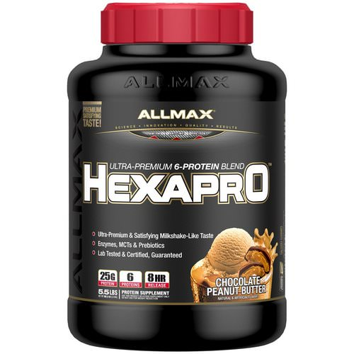 ALLMAX Nutrition, Hexapro, Ultra-Premium Protein + MCT & Coconut Oil, Chocolate Peanut Butter, 5.5 lbs (2.5 kg) Review