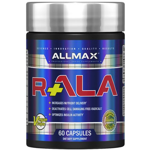 ALLMAX Nutrition, R+ALA, R-Alpha Lipoic Acid Yielding 125 mg of Active R (+) ALA Isomer, 150 mg, 60 Vegan Capsules Review