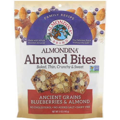 Almondina, Almond Bites, Ancient Grains Blueberries & Almonds, 5 oz (142 g) Review