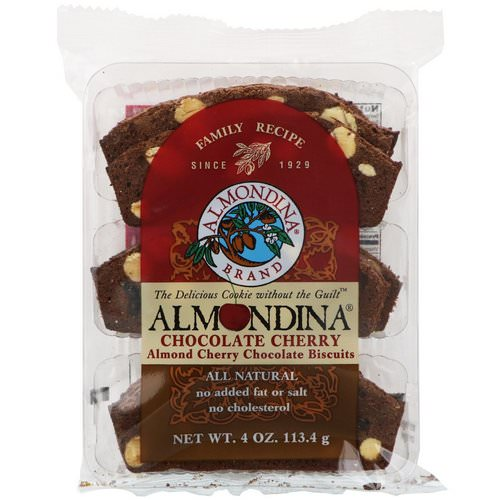 Almondina, Chocolate Cherry, Almond Cherry Chocolate Biscuits, 4 oz (113.4 g) Review
