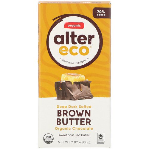 Alter Eco, Organic Chocolate Bar, Deep Dark Salted Brown Butter, 2.82 oz (80 g) Review