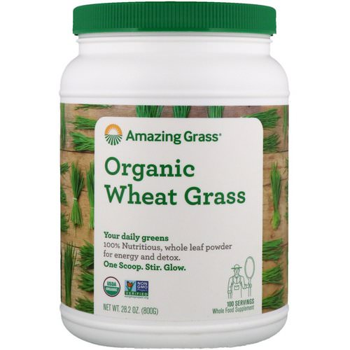 Amazing Grass, Organic Wheat Grass, 1.8 lbs (800 g) Review