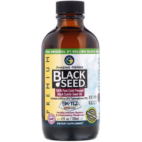 Amazing Herbs, Black Seed, 100% Pure Cold-Pressed Black Cumin Seed Oil, 4 fl oz (120 ml) Review