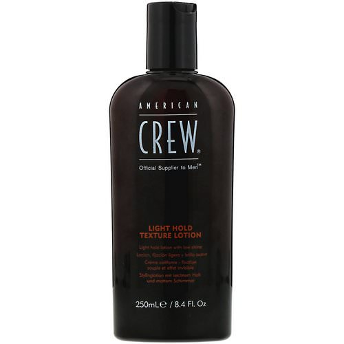 American Crew, Light Hold, Texture Lotion, 8.4 fl oz (250 ml) Review