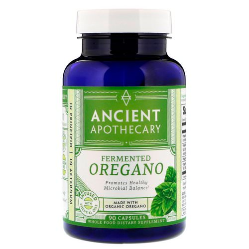 Ancient Apothecary, Fermented Oregano, 90 Capsules Review