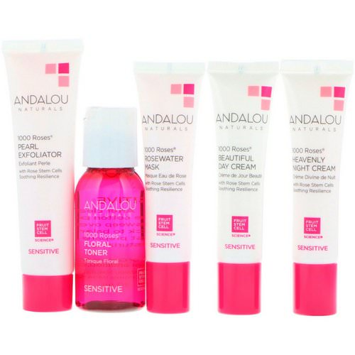 Andalou Naturals, 1000 Roses, Get Started Kit, Sensitive, 5 Piece Kit Review
