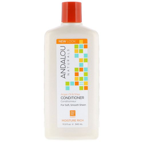 Andalou Naturals, Conditioner, Moisture Rich, For Soft, Smooth Sheen, Argan Oil & Shea, 11.5 fl oz (340 ml) Review