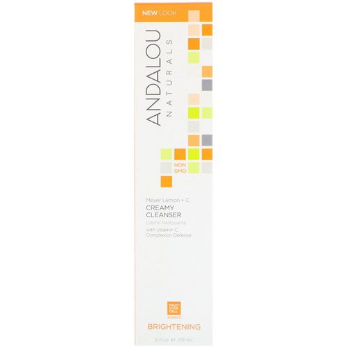 Andalou Naturals, Creamy Cleanser, Meyer Lemon + C, Brightening, 6 fl oz (178 ml) Review