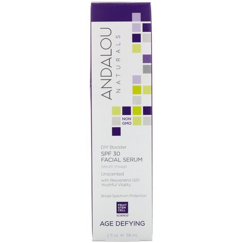 Andalou Naturals, Facial Serum, SPF 30, Age Defying, Unscented, 2 fl oz (58 ml) Review